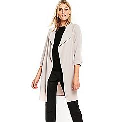 Wallis - Grey button side duster jacket