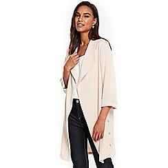 Wallis - Blush button side duster jacket