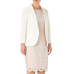 Wallis - Ivory crepe blazer