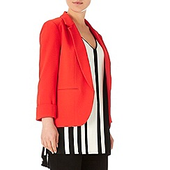 Wallis - Orange crepe blazer