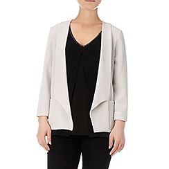 Wallis - Grey daisy crepe jacket