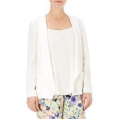 Wallis - Ivory daisy crepe jacket