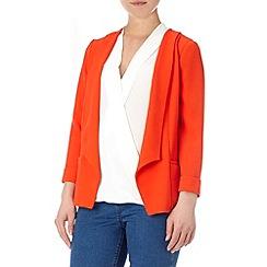 Wallis - Orange daisy crepe jacket