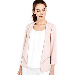 Wallis - Pale pink zip pocket short jacket