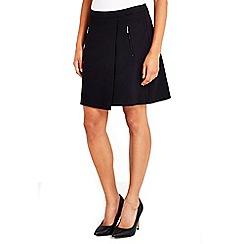 Wallis - Black wrap mini skirt