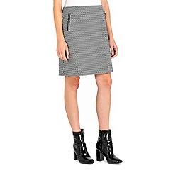 Wallis - Mono geo mini skirt