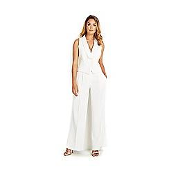 Wallis - Cream wide leg trouser