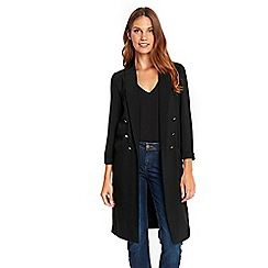 Wallis - Black button duster jacket