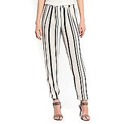 Wallis - Monchrome stripe trousers