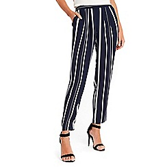 Wallis - Navy stripe trousers