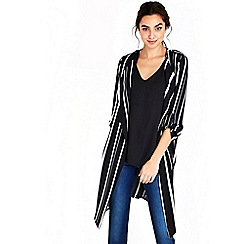 Wallis - Striped monochrome duster jacket