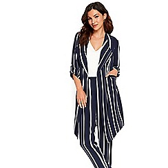 Wallis - Navy stripe blazer jacket