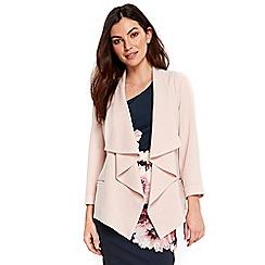 Wallis - Blush waterfall jacket