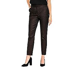 Wallis - Bronze geometric metallic trousers