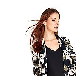 Wallis - Khaki floral duster jacket
