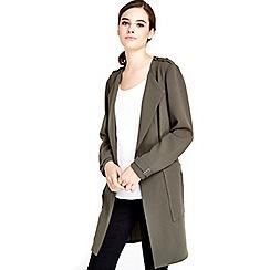 Wallis - Khaki longline blazer