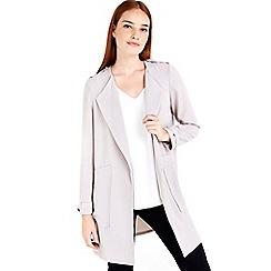 Wallis - Grey longline blazer