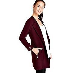 Wallis - Claret longline blazer