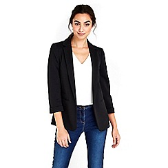 Wallis - Black ribbed blazer