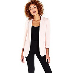 Wallis - Blush ribbed blazer