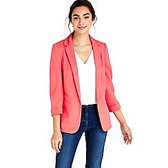 Wallis - Coral ribbed blazer