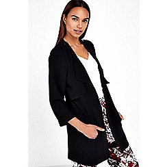 Wallis - Black longline jacket