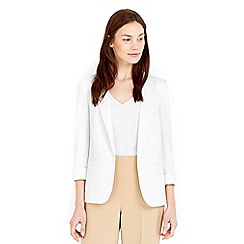 Wallis - Ivory ribbed blazer