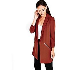 Wallis - Rust zip pocket jacket