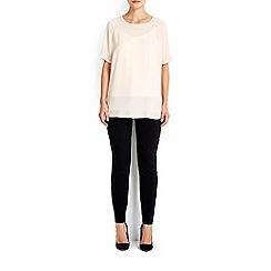 Wallis - Black cotton pocket trouser