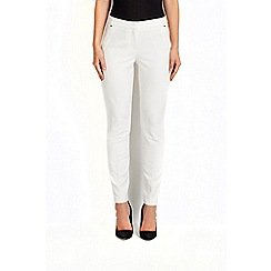 Wallis - Ivory cotton luxe trouser