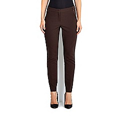 Wallis - Chocolate cotton luxe trouser