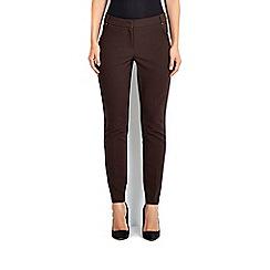 Wallis - Chocolate cotton luxe trouser