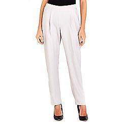 Wallis - Silver satin back crepe trousers