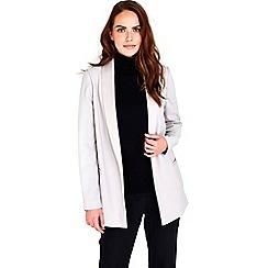 Wallis - Silver satin back jacket