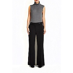 Wallis - Black twill wide leg trouser