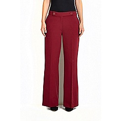 Wallis - Oxblood twill wide leg trouser
