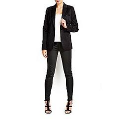 Wallis - Black snake jacquard jacket