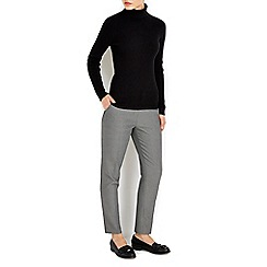 Wallis - Monochrome textured cigarette trouser