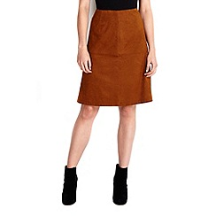 Wallis - Tan suedette a-line skirt