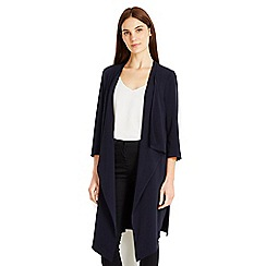 Wallis - Navy longline jacket