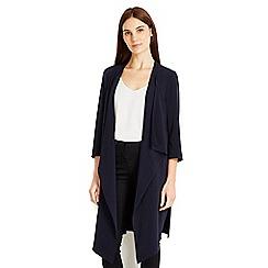 Wallis - Navy longline jacket
