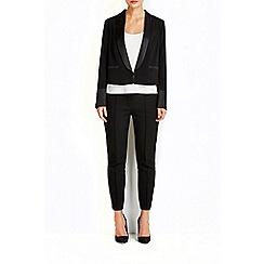 Wallis - Black satin tuxedo jacket