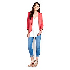Wallis - Coral tailored blazer