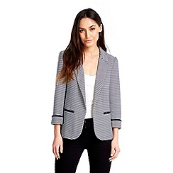 Wallis - Navy and white striped jacket