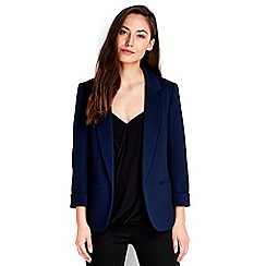Wallis - Navy ribbed blazer