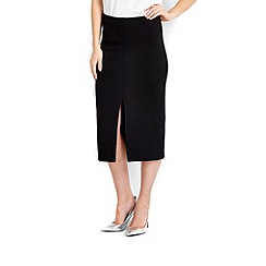 Wallis - Black split pencil skirt