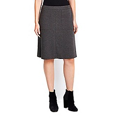 Wallis - Charcoal a-line skirt