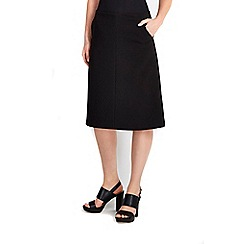Wallis - Black pocket a-line skirt