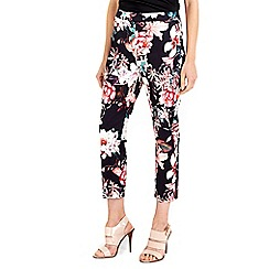 Wallis - Black floral trouser