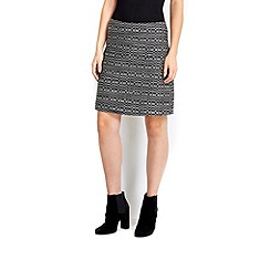Wallis - Black and white a-line skirt